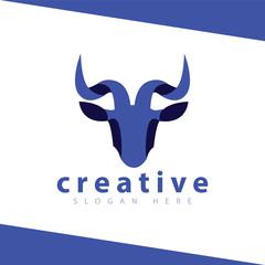 goat head logo icon vector template