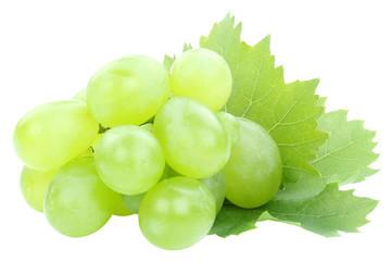 Trauben Frucht Weintrauben grün Früchte Obst Blätter Freisteller freigestellt isoliert Fototapete