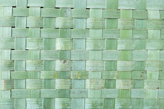 Imperfect woven flax kete harekeke background in New Zealand, NZ