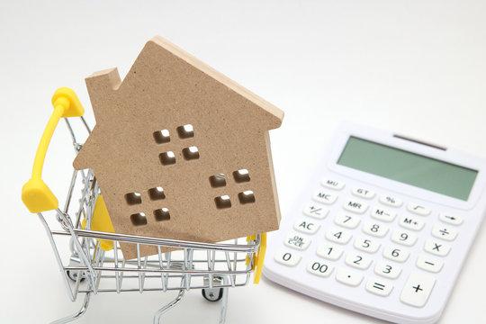 住宅 ショッピングカート 電卓