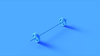 Blue Barbell 3d illustration 3d rendering