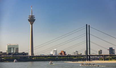 View from Dusseldorf with TV Tower and The Bridge