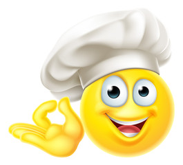 Emoji Chef Cook Cartoon Perfect Gesture