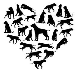 Dog Heart Silhouette Concept