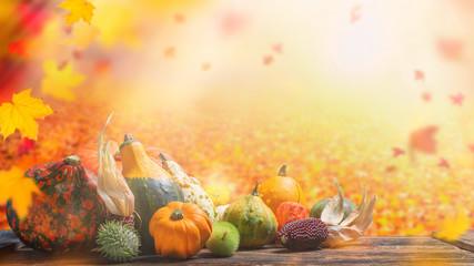 Herbstliches Stillleben mit viel Textfreiraum