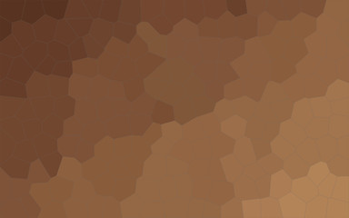 Illustration of brown and yellow Middle size hexagon background.