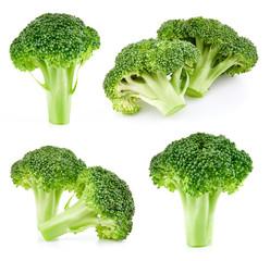 raw broccoli isolated