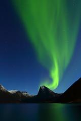 Northen lights in norway landscape