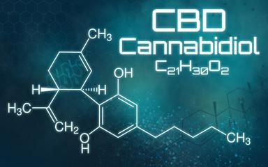 Chemische Formel von Cannabidiol
