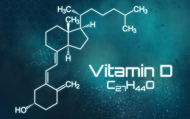 Chemische Formel von Vitamin D