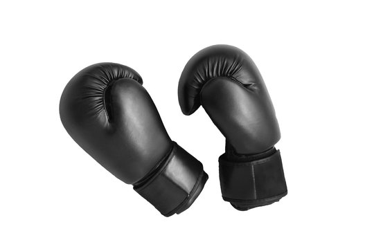 Boxing gloves isolated on white background.