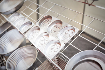 new aluminum baking dishes, close up view