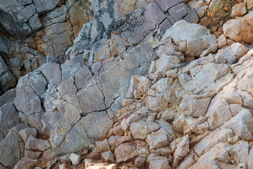 Structure and colors of the rocks