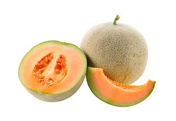 Fresh melon isolated on white background