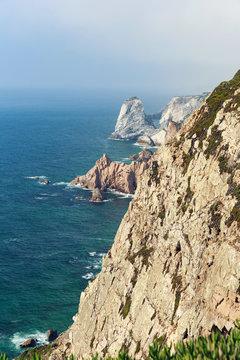 Cabo da Roca rocks and sea