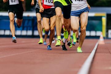 Fotomurales - legs men runners athletics middle distance running