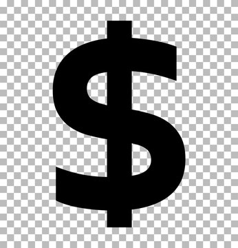 dollar sign isolated on transparent background. dollar icon for your web site design, logo, app, UI. flat style. dollar symbol. us dollar sign.
