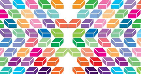 Colorful geometric minimal pattern