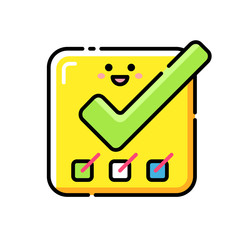 Completed Tasks Lineal Color Icon