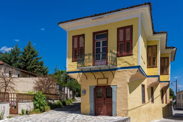 Traditional architecture in the old town of Trikala in Thessaly, Greece