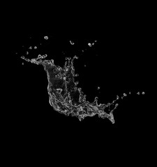water splash isolated.