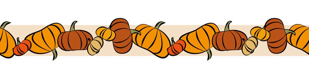Pumpkins Seamless Garland