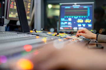 Blur background switcher or Switcher in studio news.