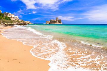 Le Castella .Isola di Capo Rizzuto - beaches and castles of Calabria, Italy Wall mural