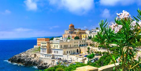 Santa Cesarea Terme - beautiful coastal town in Puglia,famous for termal waters.  Italy