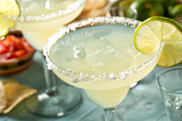 Acrylic Prints Cocktail Tequila and Lime Margaritas