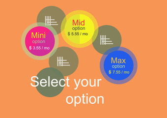 Abstract Select your option banner Vector illustration