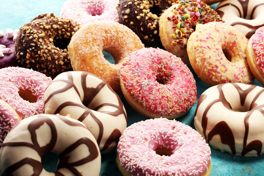 donuts in different glazes