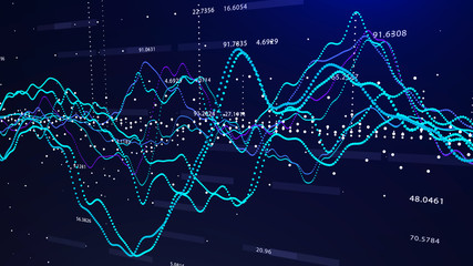 Stock market graph investment graph concept 3d rendering.