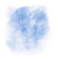 Abstract blue colorful watercolor background
