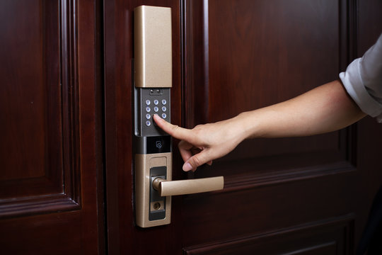 password lock at smart home