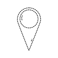 dotted shape destination location symbol to explore map