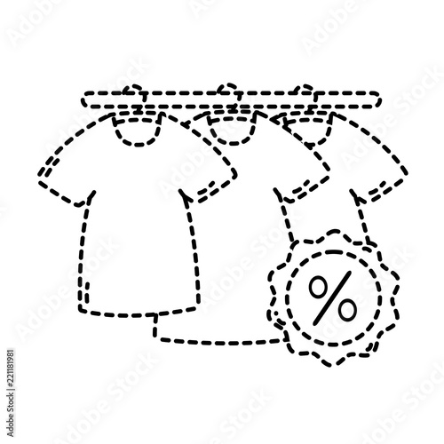 dotted shape t shirts clothes shopping with tag perccent stock Rectangle Shape dotted shape t shirts clothes shopping with tag perccent