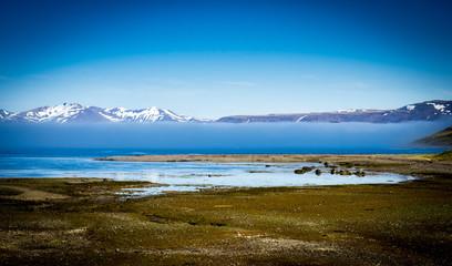 Fjord landscape in Iceland