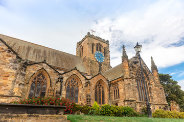 Historic St Mary's Church in Scarborough, North Yorkshire stands high above the old town, just below Scarborough Castle.