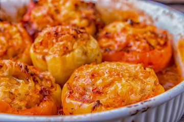Peppers stuffed with a delicious combination