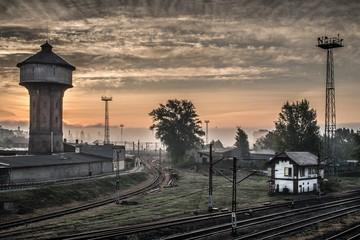 torowisko i stacja kolejowa Opole Polska
