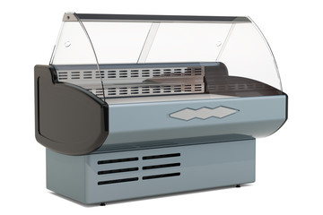 Refrigerated display case, 3D rendering