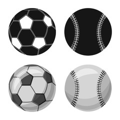 Isolated object of sport and ball logo. Collection of sport and athletic stock symbol for web.