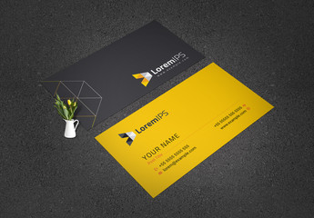 Black and Yellow Business Card Layout
