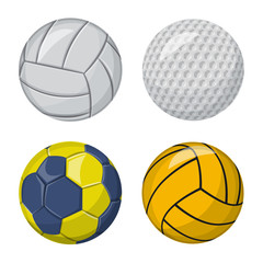 Isolated object of sport and ball logo. Set of sport and athletic stock symbol for web.