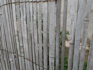 texture of a reed fence