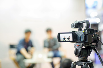 camera show viewfinder image catch motion in interview or broadcast wedding ceremony, catch...