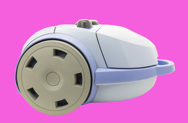 vacuum cleaner isolated on a pink background