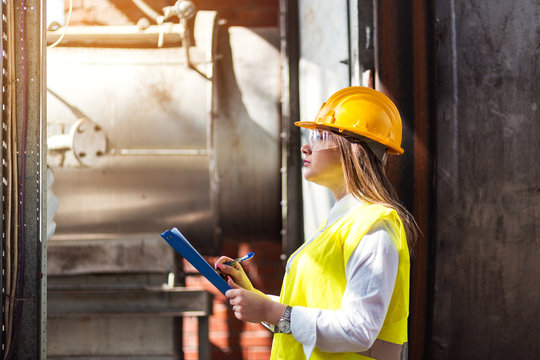 Portrait of female quality inspector