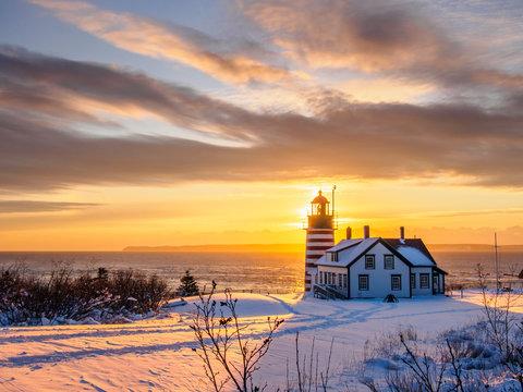 Sunrise at West Quoddy Lighthouse